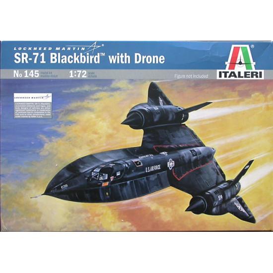 0145 - SR-71 BLACKBIRD 1-72 kit italeri con drone lockheed D 21 Aerei 0145S