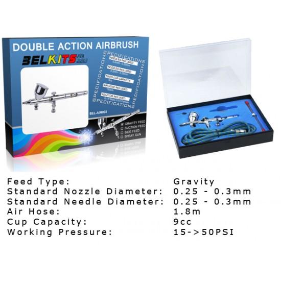 Bellkits Set  aerografo a gravita doppia azione full metal AIR002 Aerografi e Compressori air002