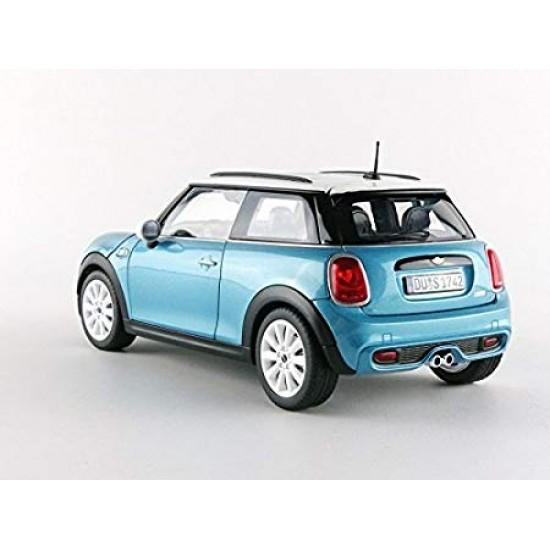 Mini Cooper s 2015 1-18 Electric blu Met. e White Diecast NV183111